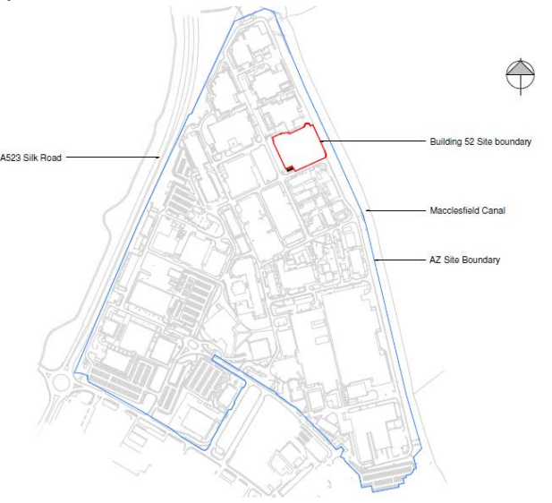 New Astra Zeneca facility awaits planning approval (site plan)