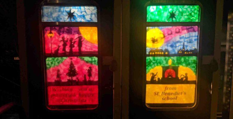 Handforth station Christmas artwork