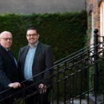 L-R Director of FIS, Martin O'Reilly SAS Daniels Corporate Team Partner, Paul Tyrer