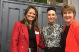 Total Fitness CEO Sophie Lawler (middle) with Marketing WAM;s Jan Cowan (L) and Sue Souter (R)