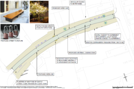Macclesfield town centre improvement works on Castle Street