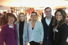 Marketing WAM's Sue Souter and Jan Cowan with delegates from new members Fabric IT and ID-I Promotional Merchandise