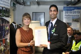 Vishal Trivedi receives NVQ certificate from Manchester Airport Academy