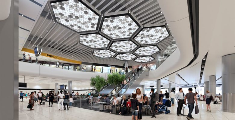 CGI of Manchester Airport Terminal 2 once complete