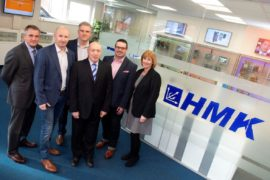 SAS Daniels Paul Tyrer with the management team at Cheshire engineering firm HMK Automation Group