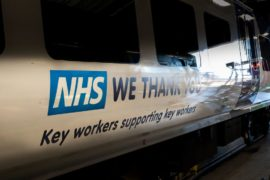 Northern trains transformed to give thanks to NHS