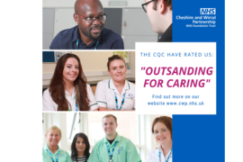 Cheshire NHS trust awarded CQC 'Outstanding' rating