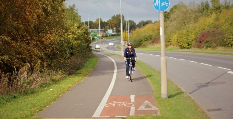 A cycle route in Cheshire East