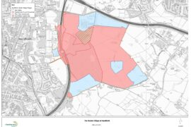 Map of Handforth Garden Village area