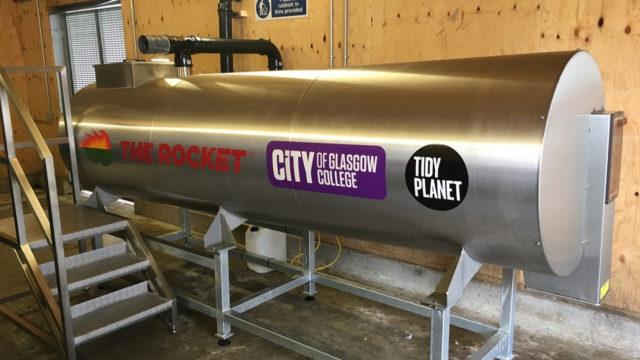 Macclesfield firm Tidy Planet installed a composter on-site at Glasgow City College