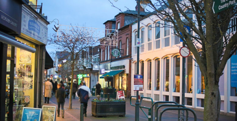 Wilmslow Town Centre Cheshire East