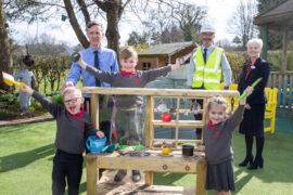 Bellway donates a mud kitchen to Nether Alderley Primary School
