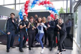 Olympic Bronze Medallist Bianca Walkden with LSH Auto colleagues from Mercedes-Benz of Macclesfield